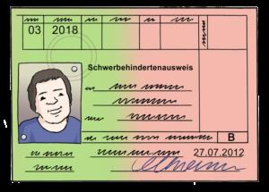 Grafik: Schwerbehindertenausweis