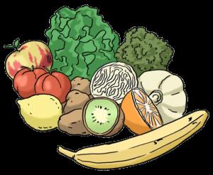 Grafik: Obst und Gemüse